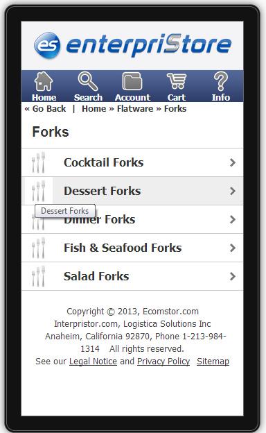 2nd image Mobile Index   Categories