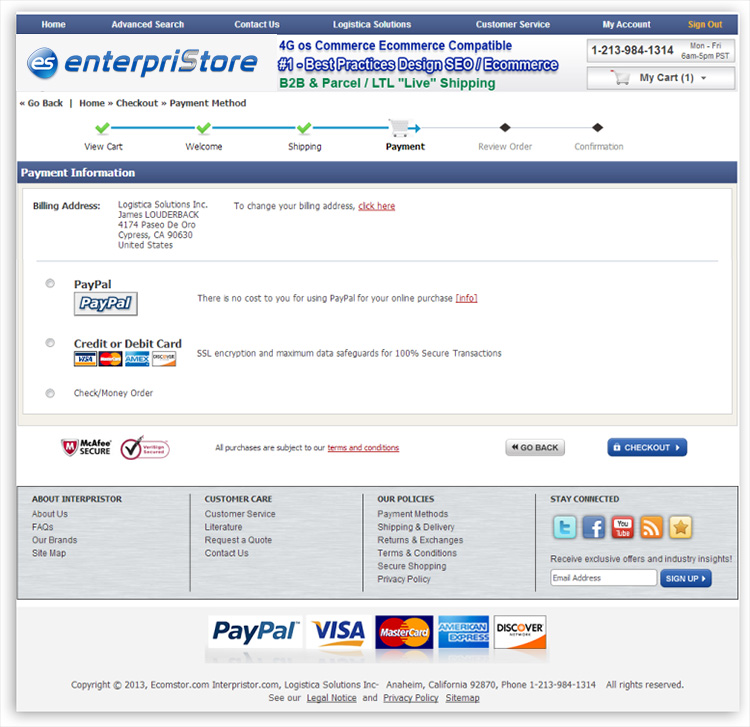 Checkout Process Payment Page Payments