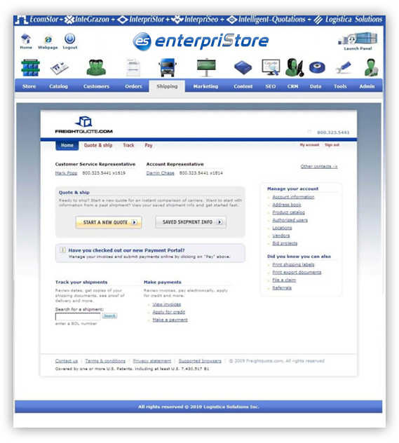 Freightquote.com--LTL-Shipping---enterpriStore---Home