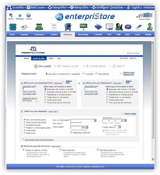 Freightquote.com--LTL-Shipping---enterpriStore--Quotation