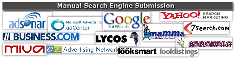 Manual Search Engine Submission2 Site & Shop Engines