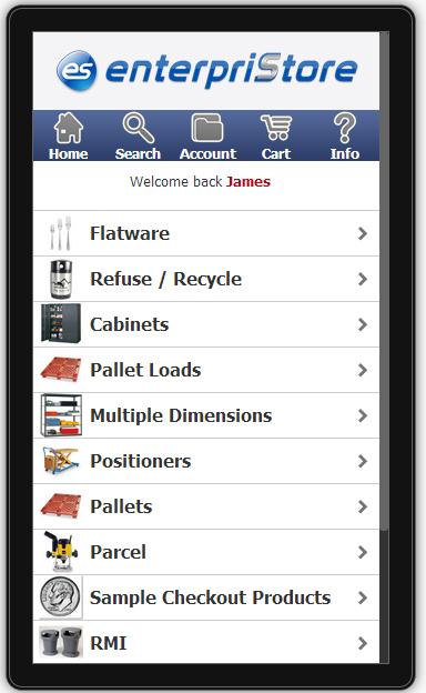 Mobile Responsive Design Ecommerce Platform Mobile Index   Categories