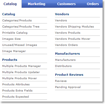 catalog new menu tab 01 Catalog Admin