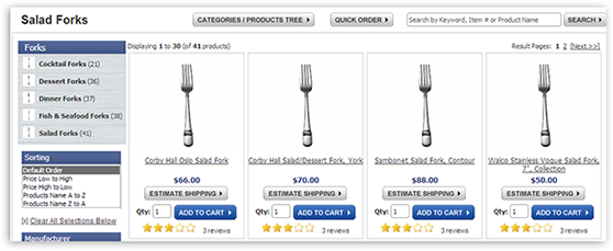 category products results faceting 01 Ecommerce Advanced Search