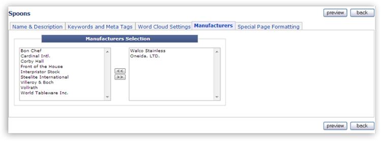 category tab04 Catalog Setup Tabs