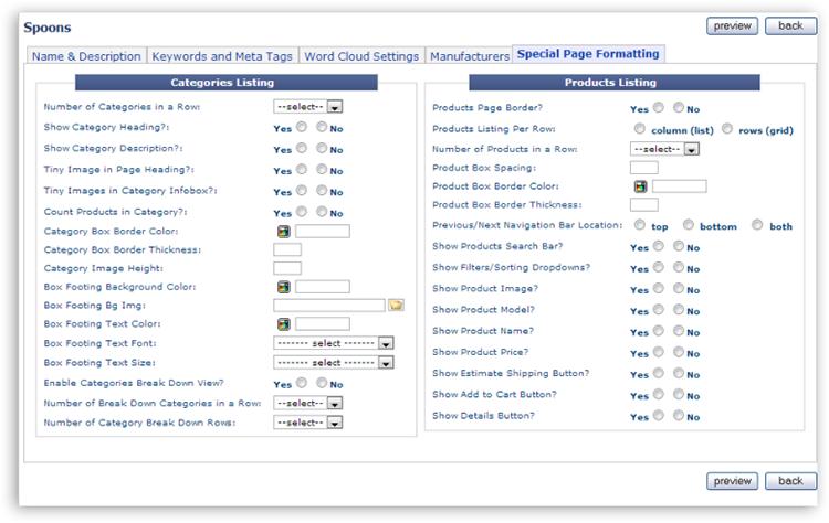 category tab05 Catalog Setup Tabs