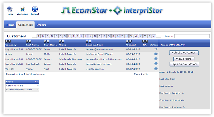 csr login view customers Customer Service Portal