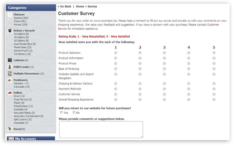 customer survey Customer Survey