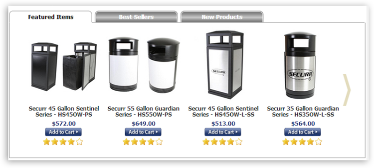 featured products Products Tab Scroller
