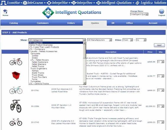 inteiilgent quotations create order 021 Distributor Login