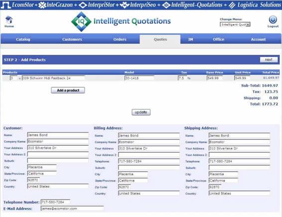 inteiilgent quotations create order 03 Intelligent Quotations
