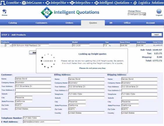 inteiilgent quotations create order 04 Intelligent Quotations