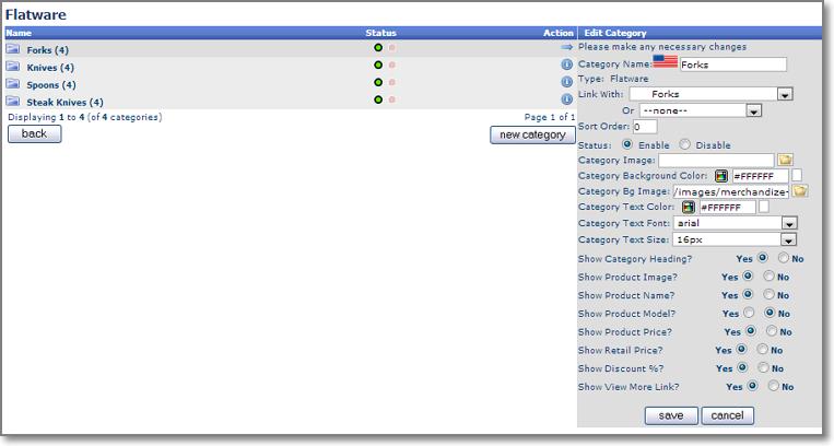 merchandize admin secondary edit Merchandising Pages