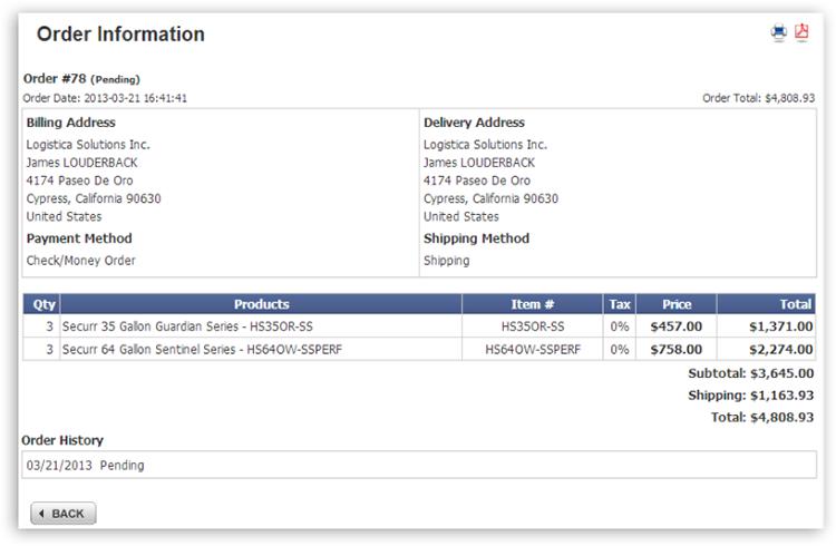 mya order detail1 View Order History