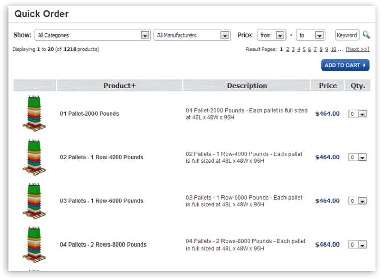 mya quick order1 Ecommerce Quick Orders