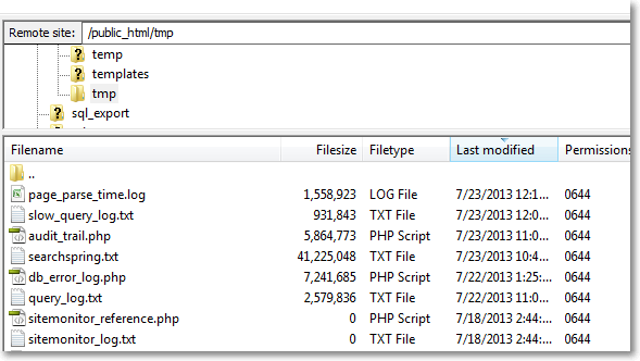 performance queries log1 Page Load Speeds