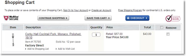 save carts shopping cart page Manage Saved Carts