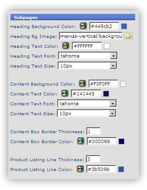 template 13 sub pages Site Template Config