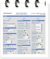 template config mini Admin Features