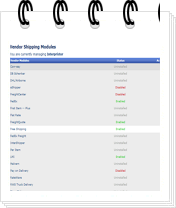 vendors shipping listing mini Admin Features