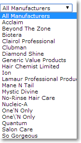 Categories Products List view by manufacturers Category / Products Tools