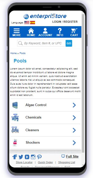 2 Mobile Index – Categories