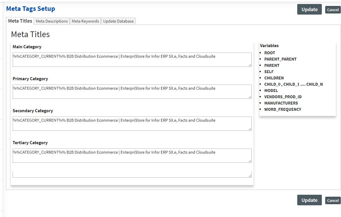 Search Engine Optimization Management – Setup Meta Information SEO Meta Tags