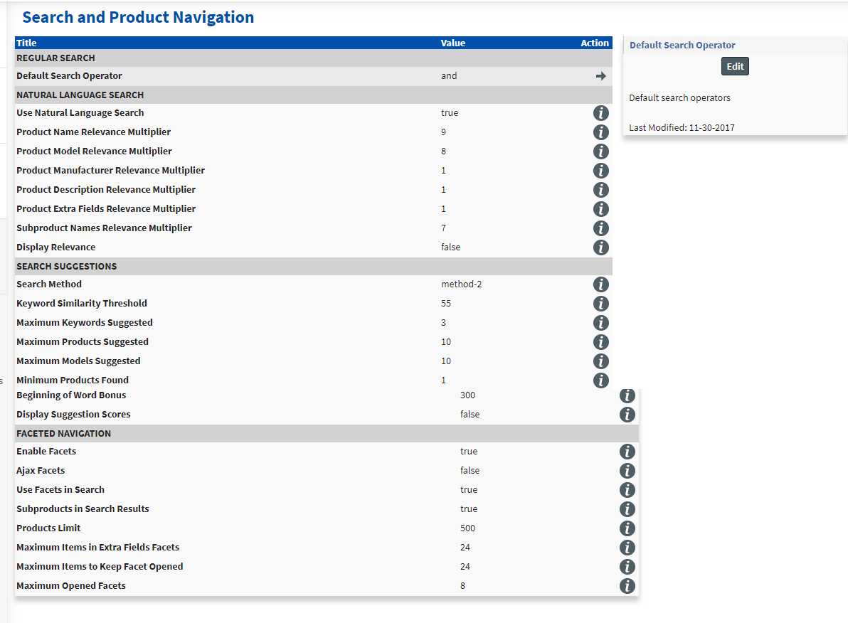 Store Management – Search Product Navigation Site / Store Management