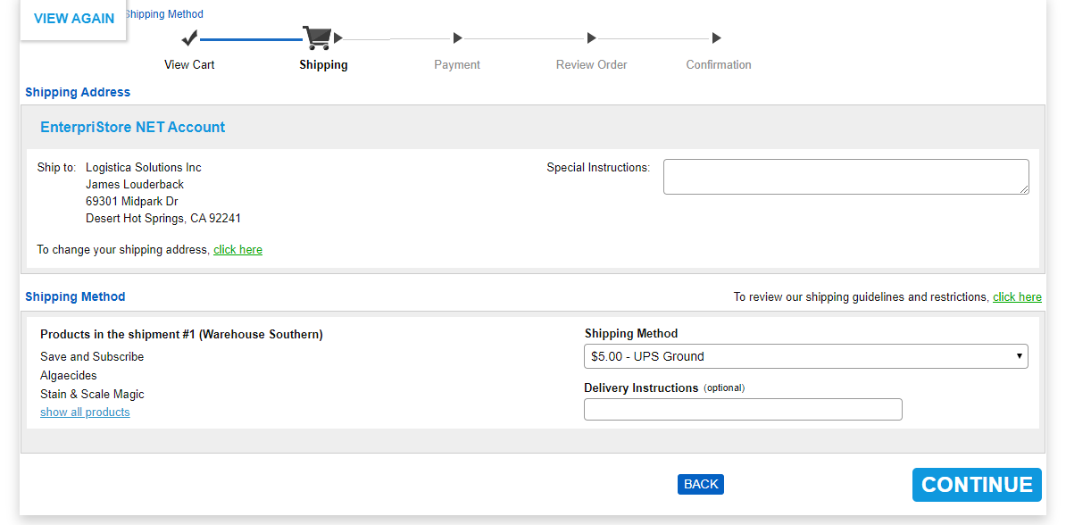 View Cart 1 Order Summary