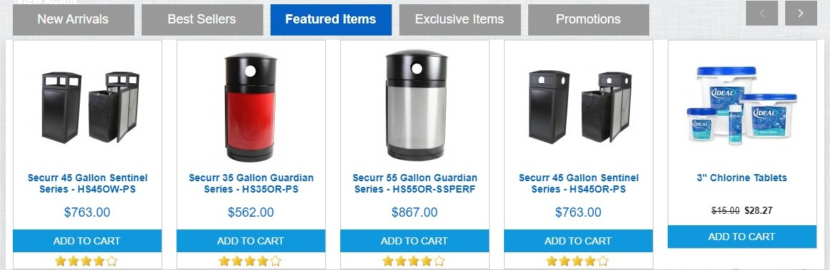 Website – Featured Products Tab Scroller Products Tab Scroller