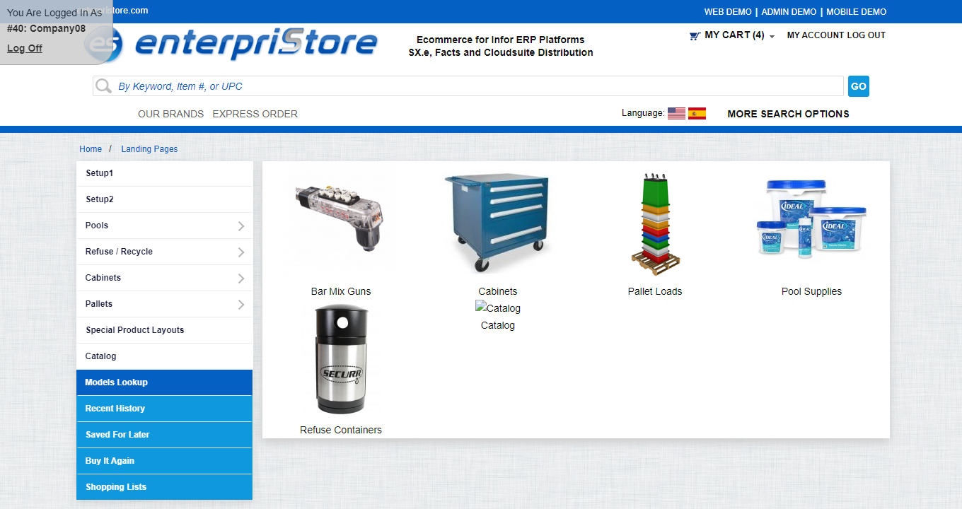 landing page Merchandising Pages