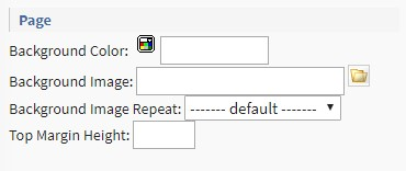 page Template Configuration