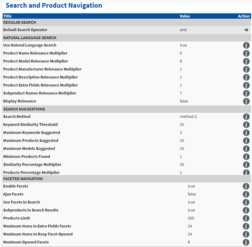 search and product Ecommerce Advanced Search