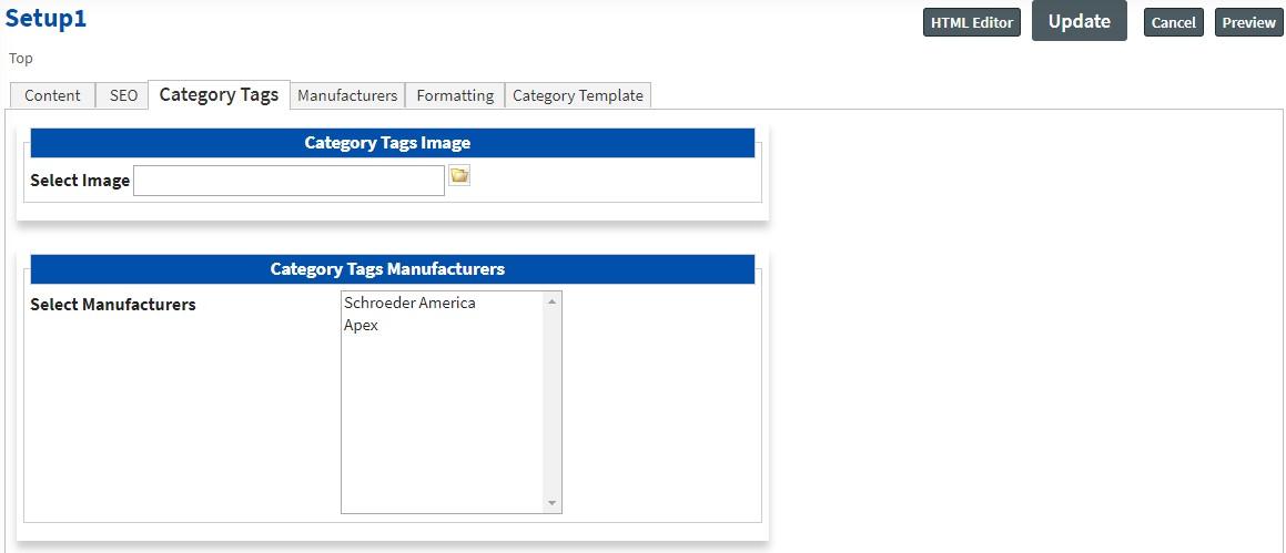 tags Categories Setup